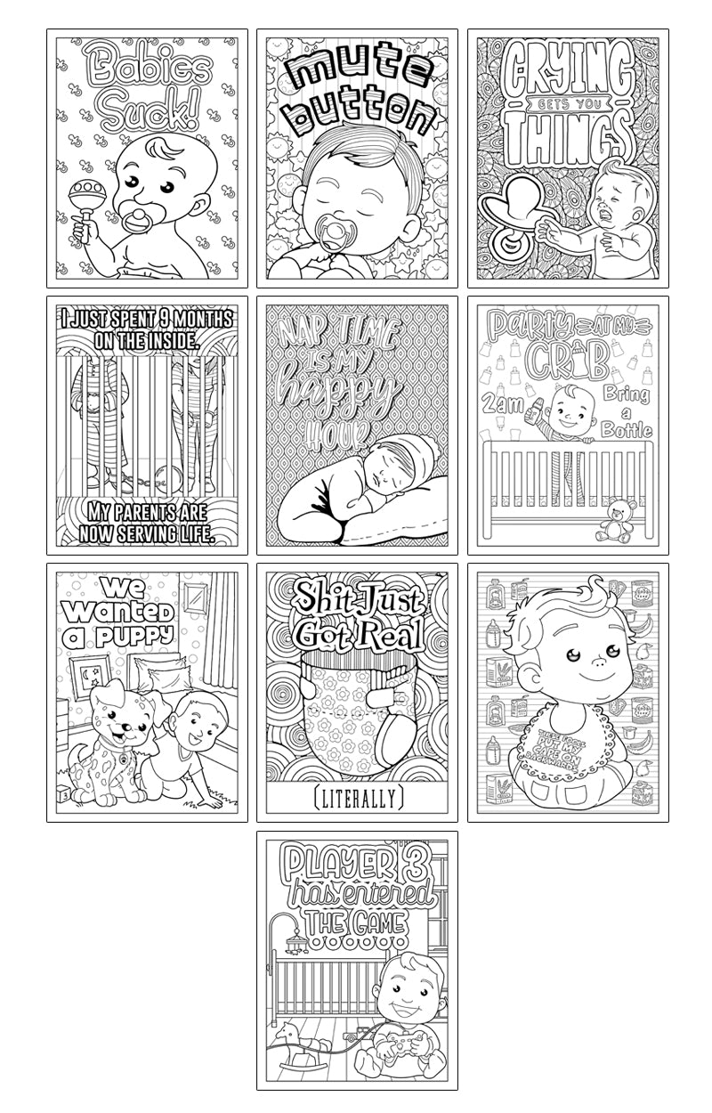 Baby Got Back Baby-Themed Coloring Book PDF Printable