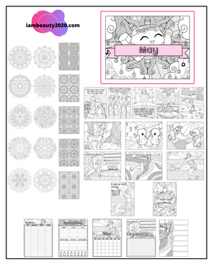 May 2020 Printable Coloring Pages & Journal Planner Pages
