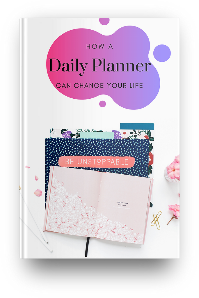 How a Daily Planner Can Change Your Life eBook - I Am Beauty Watch Me Soar! Skincare beauty and wellness planner