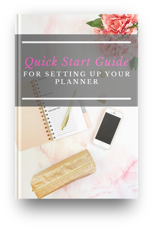 Quick Start Guide for Setting up Your Planner - I Am Beauty Watch Me Soar! Skincare beauty and wellness planner