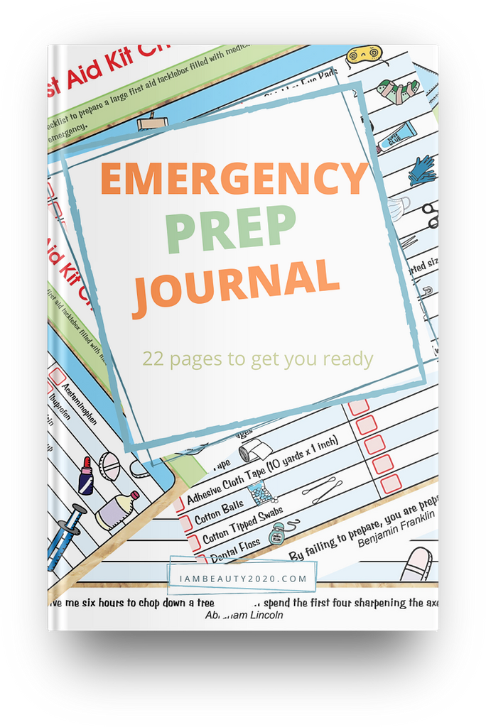 Colorful Emergency Prep Journal - I Am Beauty Watch Me Soar! Skincare beauty and wellness planner