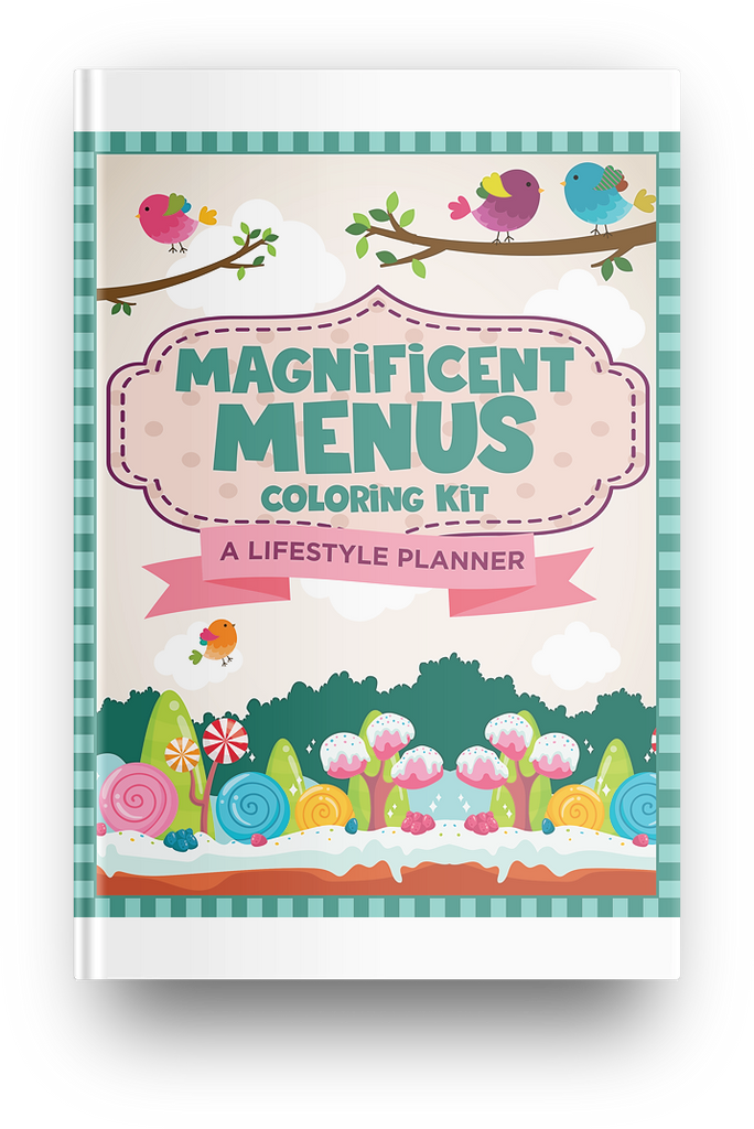 Colorful Magnificent Menus Planner - 35 Page Printable Digital Planner