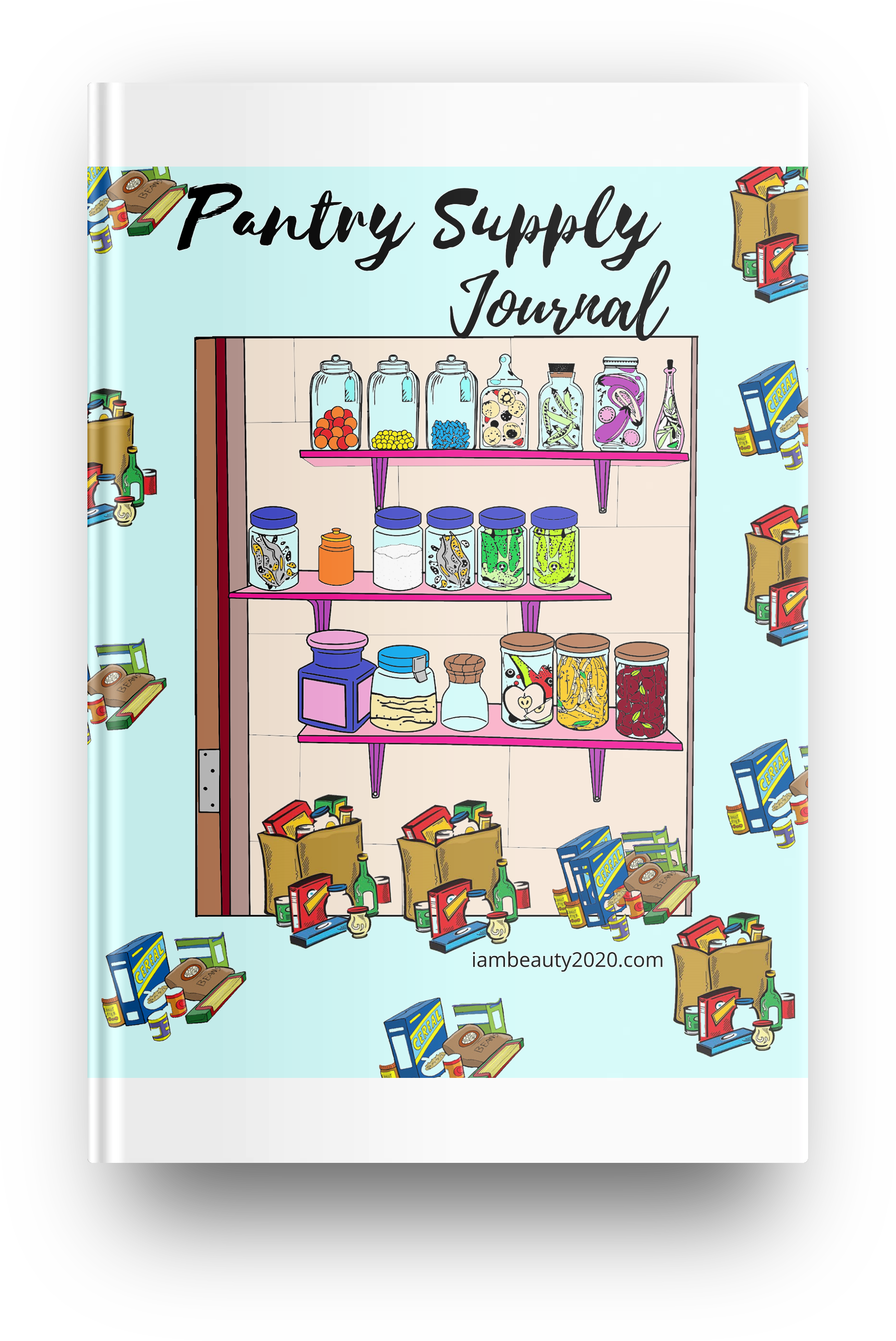 Pantry Supply Planner Journal - Printable PDF Coloring Book
