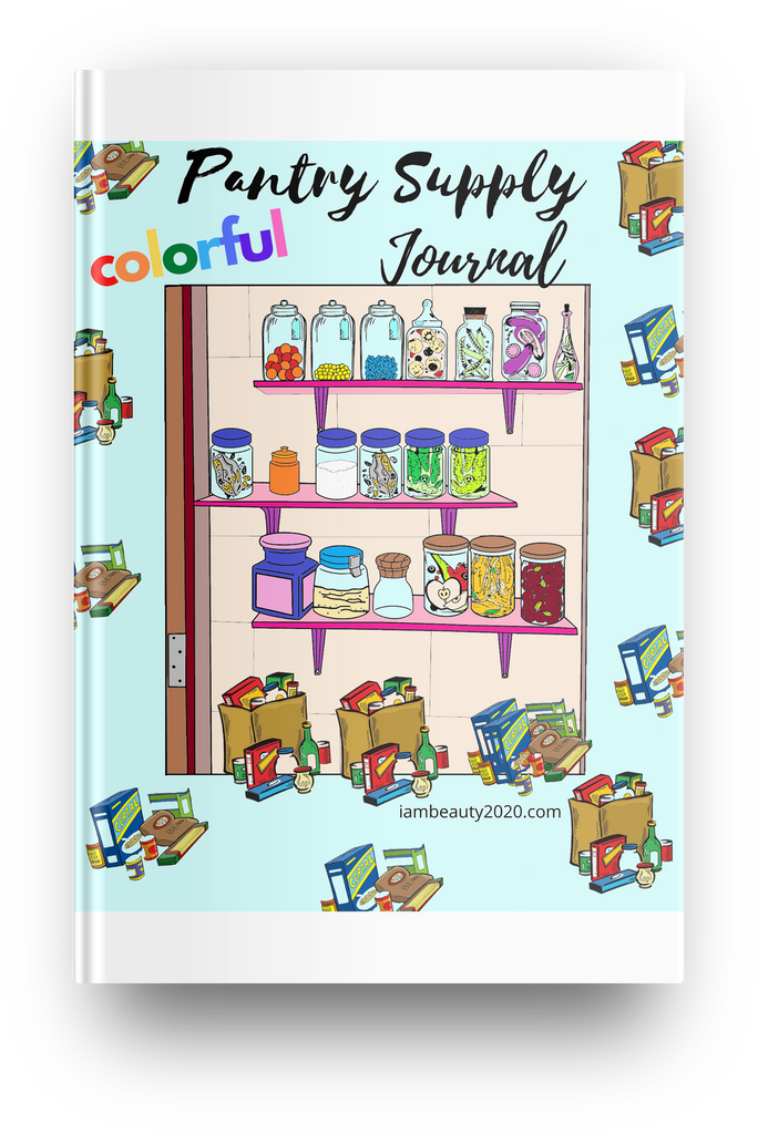 Colorful Pantry Supply Journal - Printable Planner