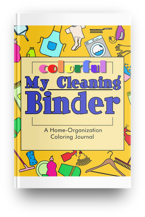 COLORFUL Printable Household Cleaning Coloring Journal Binder