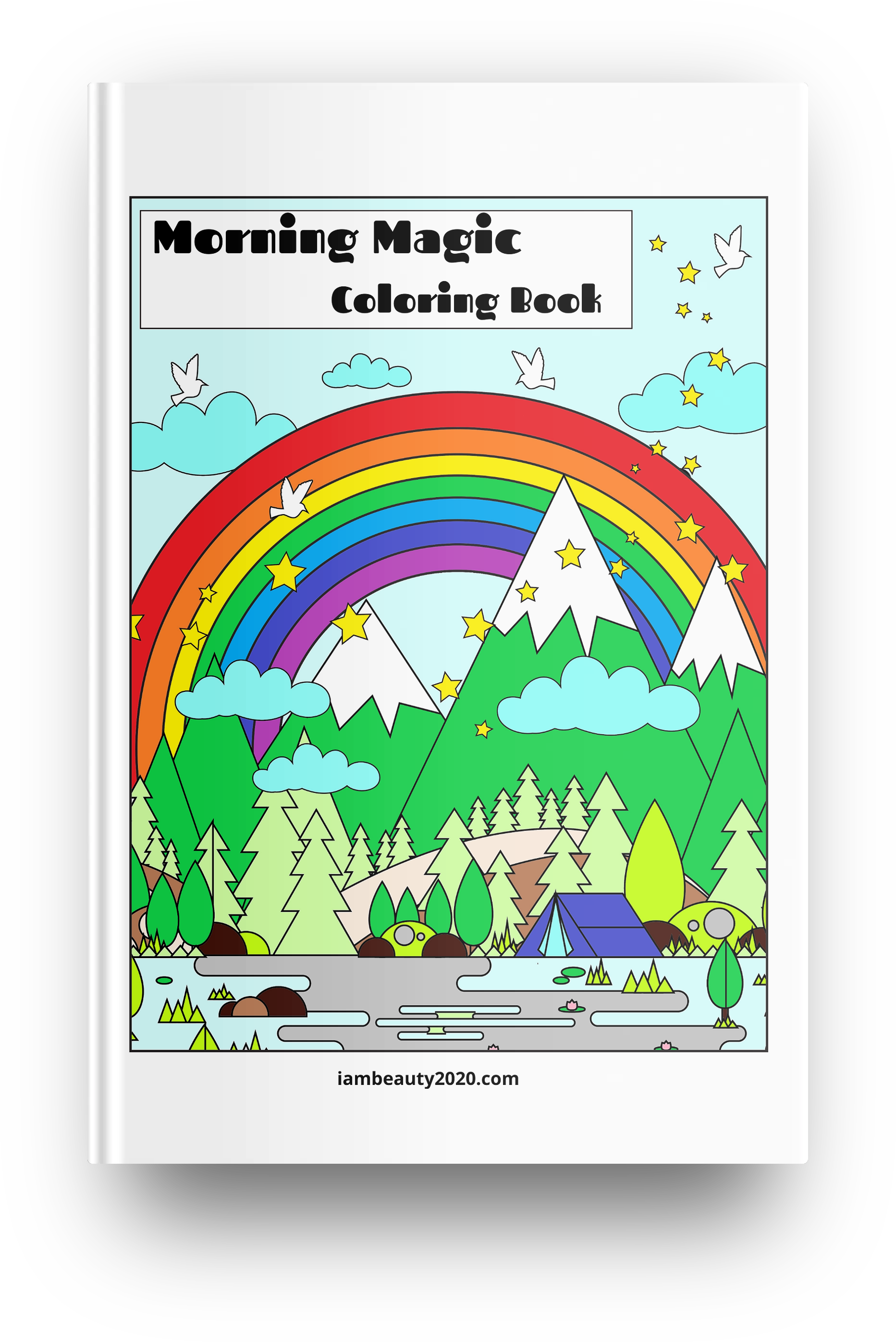 Morning Magic 20-Page Printable Coloring Book