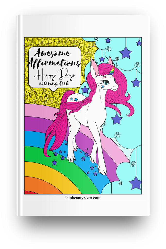 Awesome Affirmations Happy Days 20-Page Printable Coloring Book