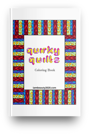 Quirky Quilts - Quilt-Themed 20-Page Coloring Book PDF Printable