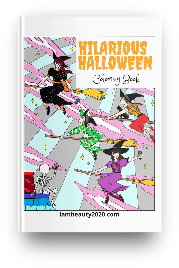 Hilarious Halloween! Halloween-Themed 20-Page Coloring Book PDF Printable