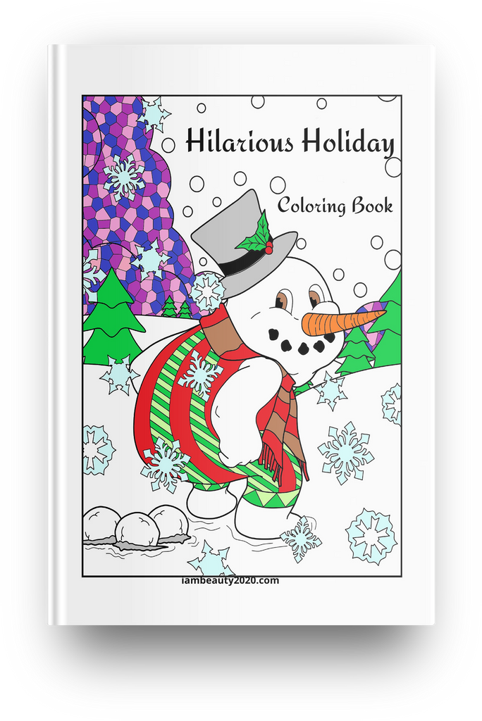 Hilarious Holiday 20-Page Printable Digital Christmas-Themed Coloring Book PDF