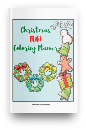 Christmas Fun Coloring Planner 11-Page Printable Digital PDF