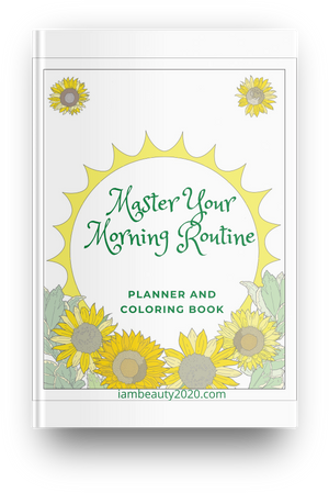 Master Your Morning Routine Planner Coloring Journal PDF Digital and Printable