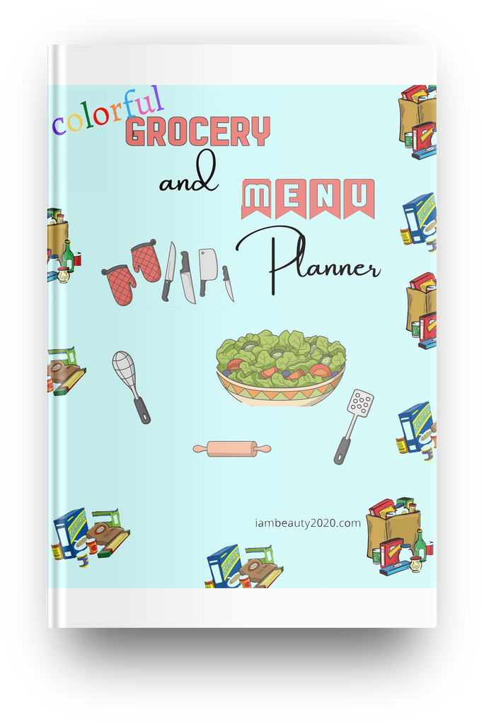 Colorful Grocery and Menu Planner - 18 Page Printable Digital Planner