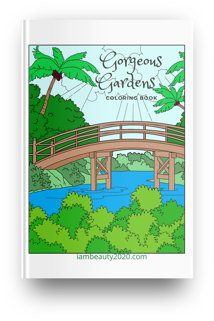 Gorgeous Gardens 12-Page Printable Digital Coloring Book PDF