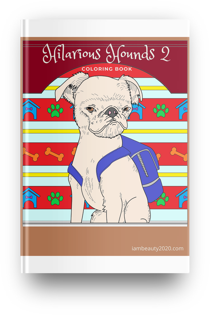 Hilarious Hounds 2 10-Page Printable Digital Dog-Themed Coloring Book PDF