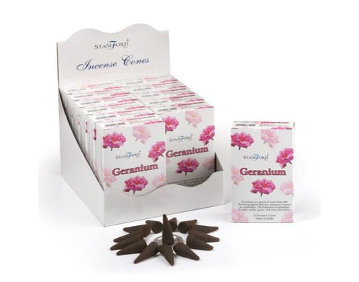 Geranium Incense Cones - GOLDENHANDS