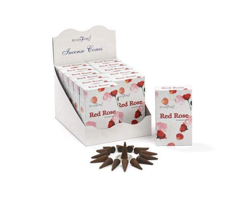 Red Rose Incense Cones - GOLDENHANDS