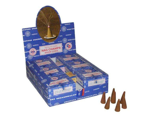 Satya Nag Champa Incense Cones - GOLDENHANDS