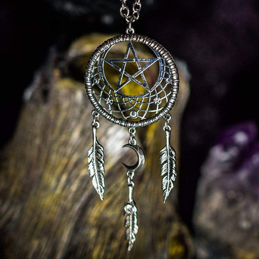 Pagan Dream Catcher Pendant By Alchemy - GOLDENHANDS
