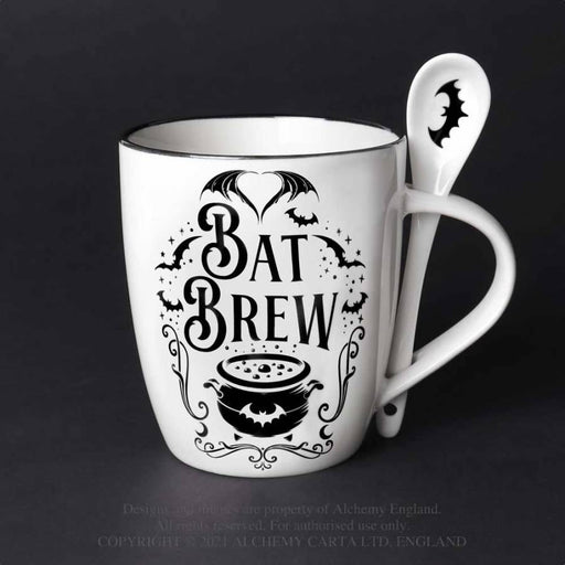 Bat Brew: Mug and Spoon Set By Alchemy - GOLDENHANDS