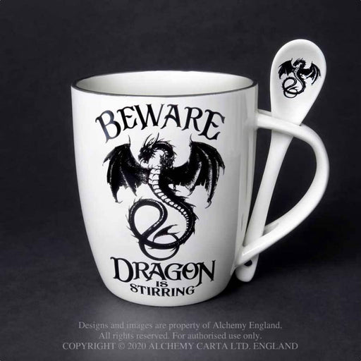 Dragon is Stirring: Mug and Spoon Set By Alchemy - GOLDENHANDS