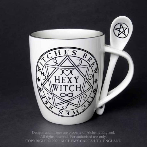 Hexy Witch: Mug and Spoon Set By Alchemy - GOLDENHANDS