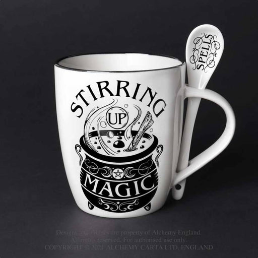 Stirring up Magic: Mug and Spoon Set By Alchemy - GOLDENHANDS