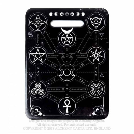 Magic Symbols Chopping Board/Serving Trivet By Alchemy - GOLDENHANDS