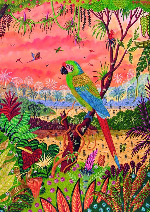 Great Green Macaw Jigsaw Puzzle - GOLDENHANDS