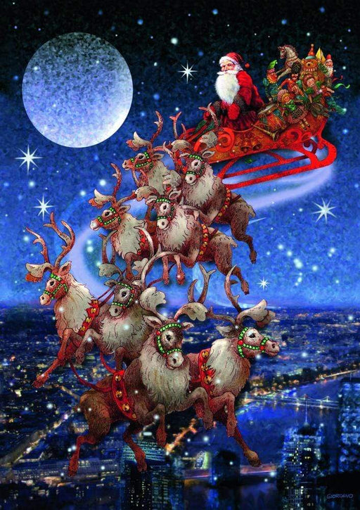 Santa's Flying Sleigh Jigsaw Puzzle - GOLDENHANDS