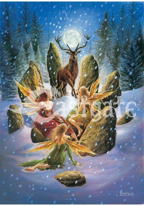 Yule Stag Card - GOLDENHANDS