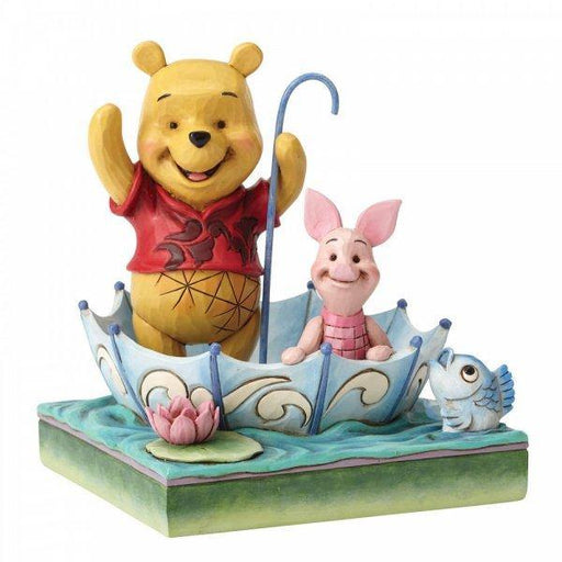 50 Years of Friendship - Winnie the Pooh and Piglet Disney Figurine From Winnie The Pooh - GOLDENHANDS