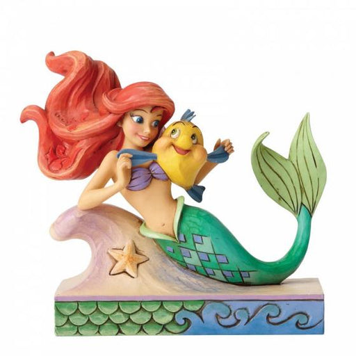 Fun and Friends - Ariel with Flounder Disney Figurine From The Little Mermaid - GOLDENHANDS