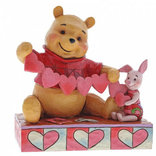 Handmade Valentines - Pooh and Piglet Disney Figurine From Winnie the Pooh - GOLDENHANDS