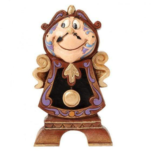 Keeping Watch - Cogsworth Disney Figurine From Beauty and the Beast - GOLDENHANDS