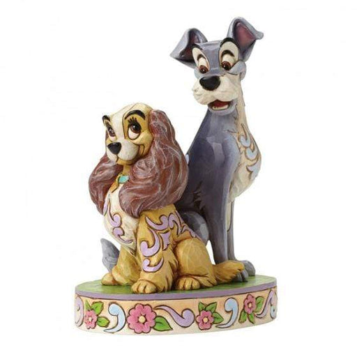 Opposites Attract - Lady and The Tramp 60th Anniversary Disney Figurine From Lady And The Tramp - GOLDENHANDS