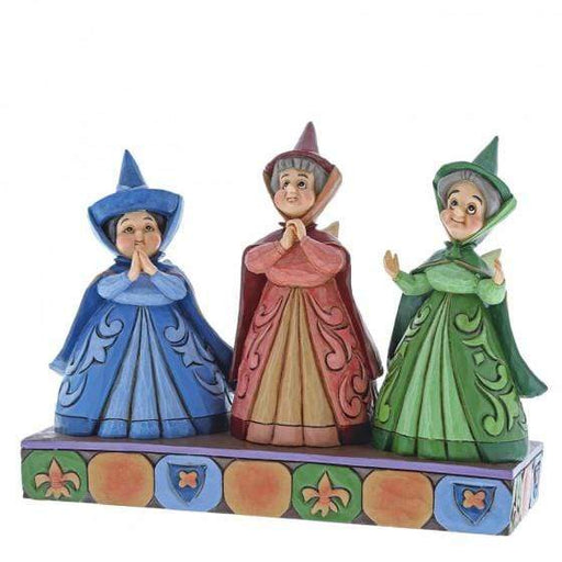 Royal Guests - Three Fairies Disney Figurine From Sleeping Beauty - GOLDENHANDS