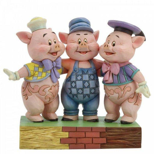 Squealing Siblings - Silly Symphony Disney Figurine From Three Little Pigs - GOLDENHANDS