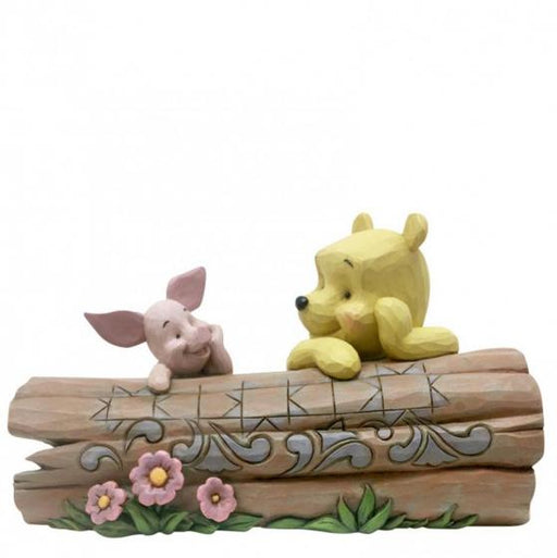 Truncated Conversation - Pooh and Piglet on a Log Disney Figurine From Winnie The Pooh - GOLDENHANDS
