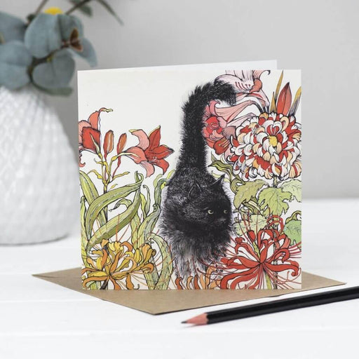 Black Cat Greeting Card - GOLDENHANDS
