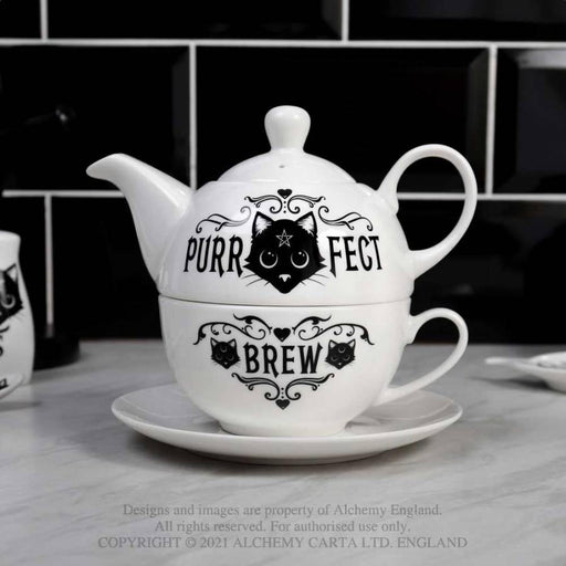 Purrfect Brew: Tea for One Teapot Set By Alchemy - GOLDENHANDS