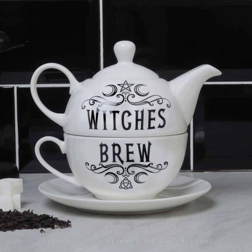 Witches Brew Hex: Tea for One Teapot Set By Alchemy - GOLDENHANDS