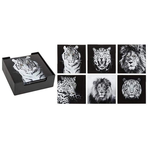 Big Cats Decor Coasters - GOLDENHANDS