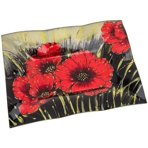 Poppy Rectangle Indent Plate - GOLDENHANDS