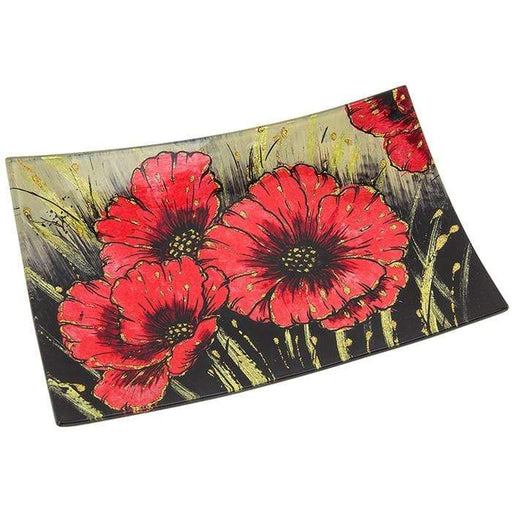 Poppy Rectangle Plate Small - GOLDENHANDS