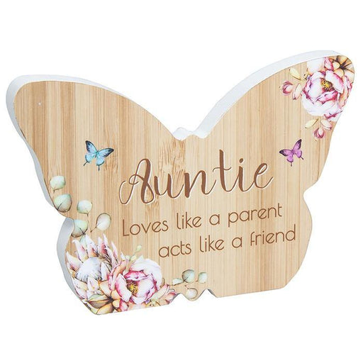 Auntie Vintage Butterfly Plaque - GOLDENHANDS