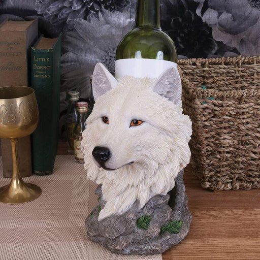 Snow Guide White Wolf Bust - GOLDENHANDS