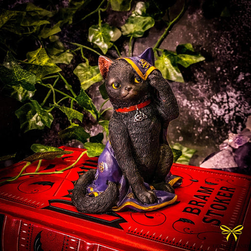 Jinx Witches Cat Figurine Wrapped In An Altar Cloth - GOLDENHANDS