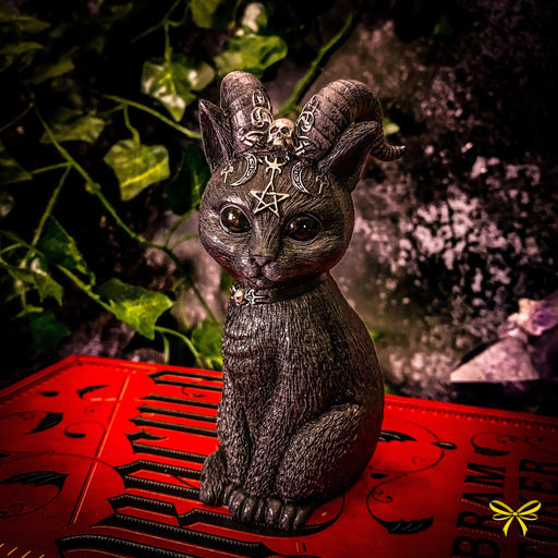 Pawzuph Horned Occult Cat Figurine - GOLDENHANDS