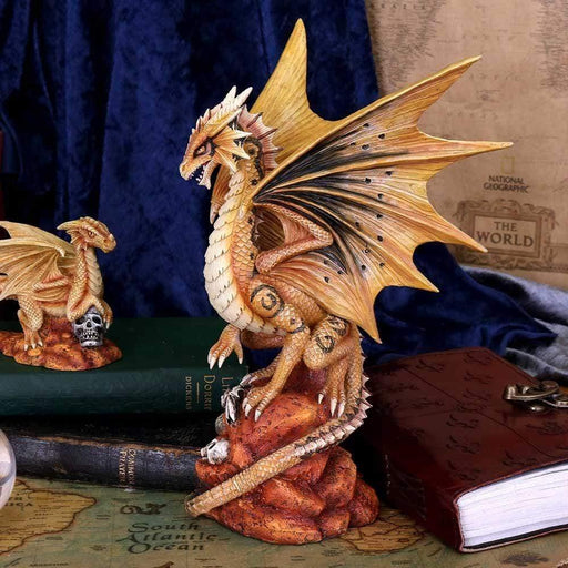 Adult Desert Dragon Figurine By Anne Stokes - GOLDENHANDS